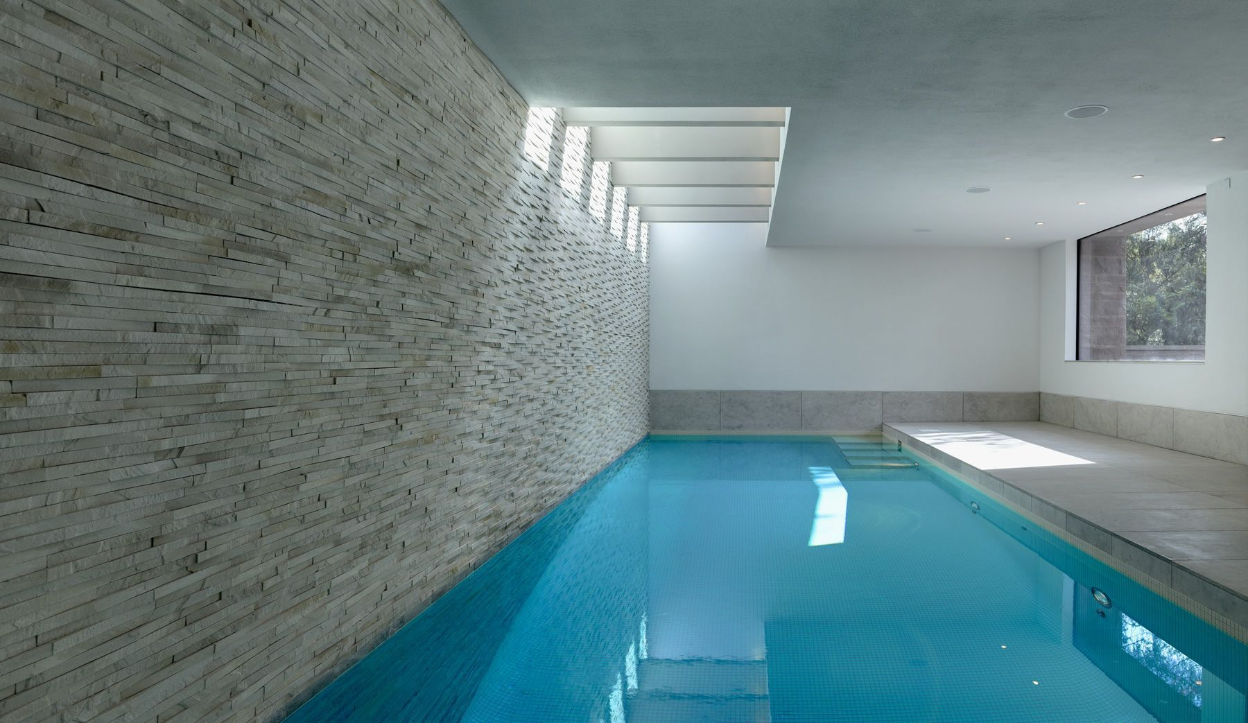 Striking Indoor Pool By Portrait Pools In 2020 Indoor Swimming