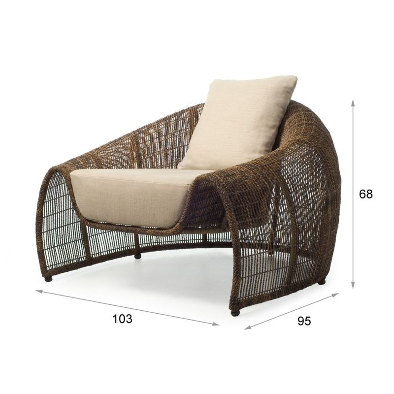Croissant Easy Sessel Von KENNETH COBONPUE (für Den Innenbereich,  Aussenbereich Version Ist Unten Abgebildet
