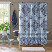 Better Homes And Gardens Indigo Arabesque Shower Curtain Image 1 Of 2