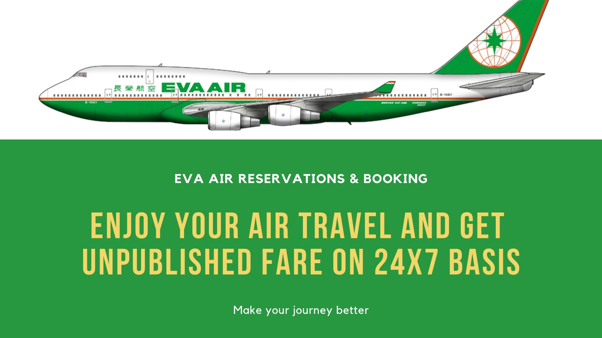 Get the Best deal and get lowest airfares on Eva airlines