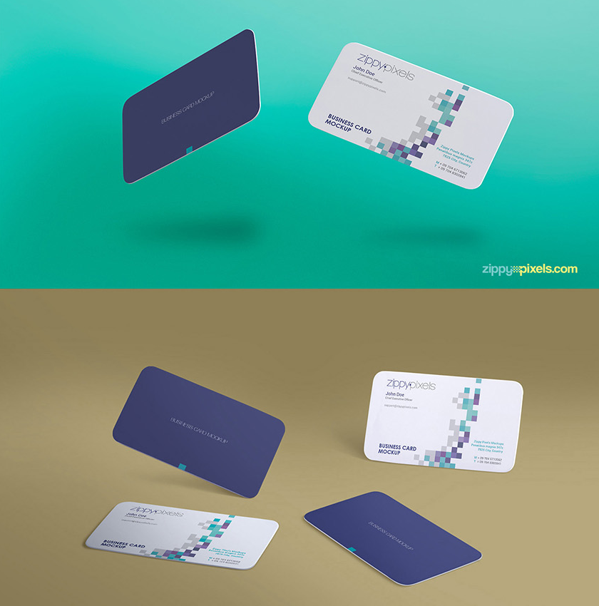 Free gravity business card mockup with infinite arrangement options free gravity business card mockup with infinite arrangement options freebies business card display free graphic design wajeb Gallery