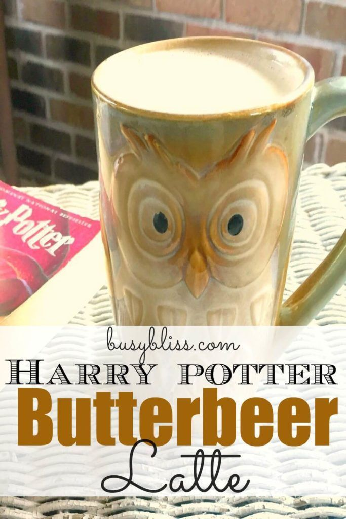 Harry Potter Butterbeer Latte Busy Bliss Recipe Butterbeer Latte Harry Potter Butter Beer Butterbeer