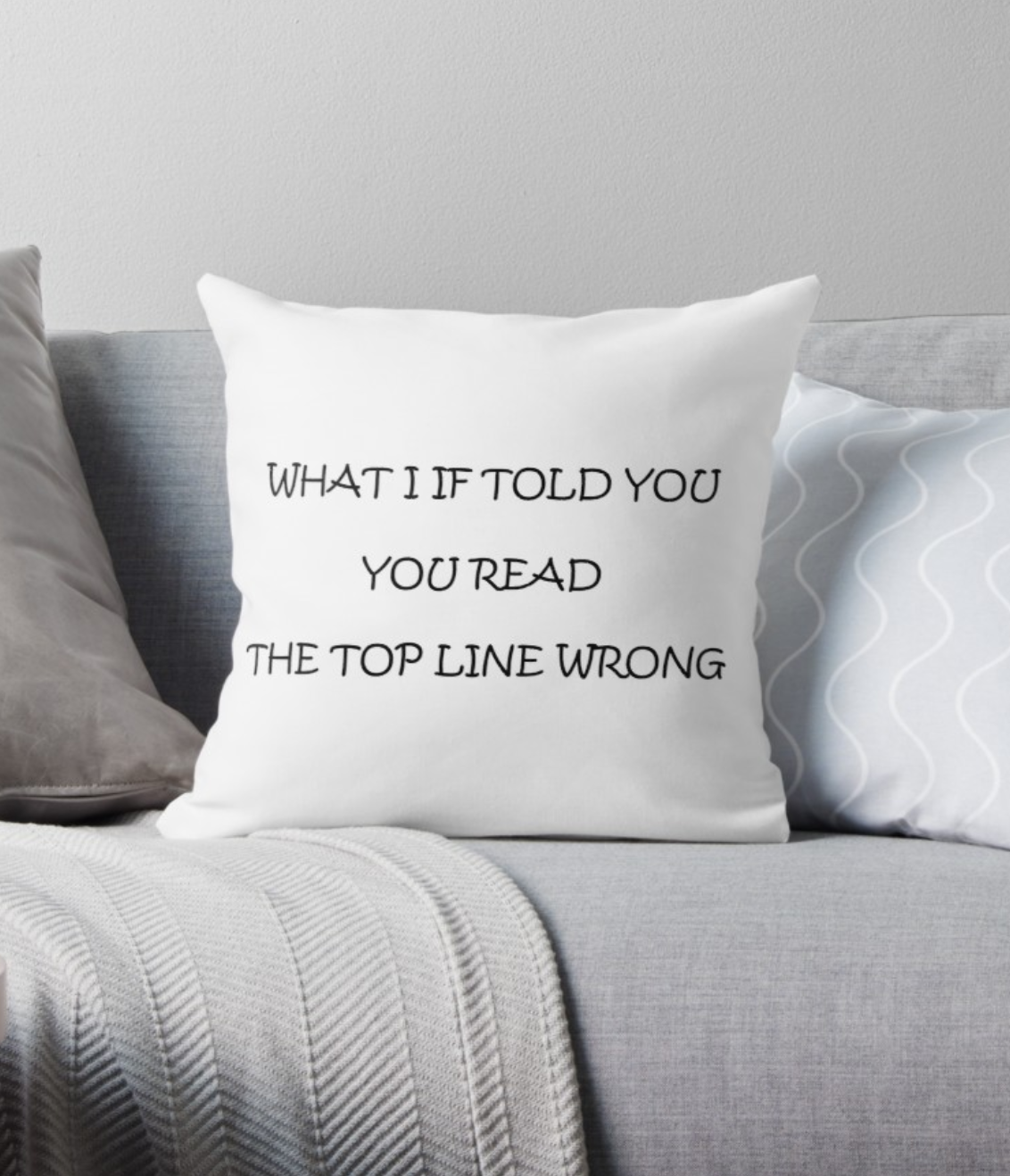 'Language Tricks' Throw Pillow by ColorfulCortex Throw