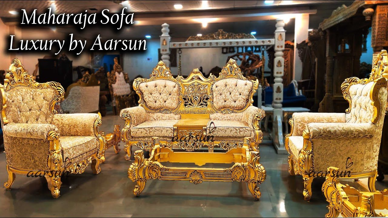 Luxury Maharaja Sofa Set Living Room Furniture Aarsun In 2020 Sofa Set Sofa Furniture