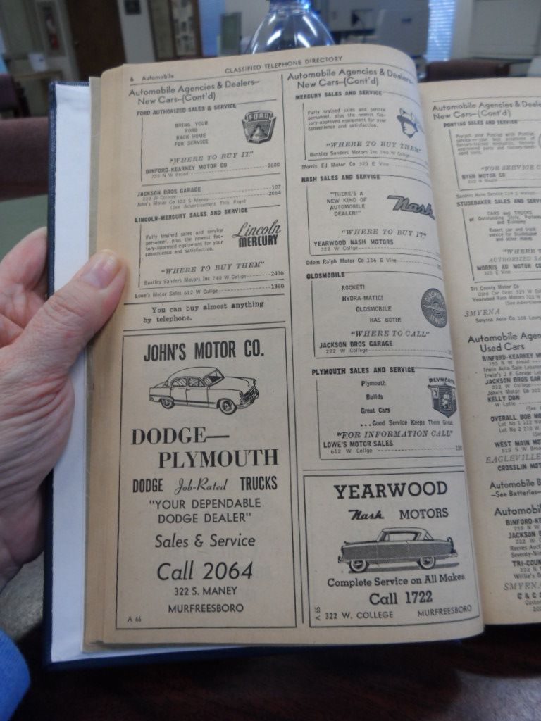 1956 Telephone Directory