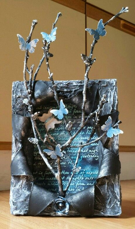 Mixed Media Art - 3D Canvas by Heather's Craft Studio #twigart