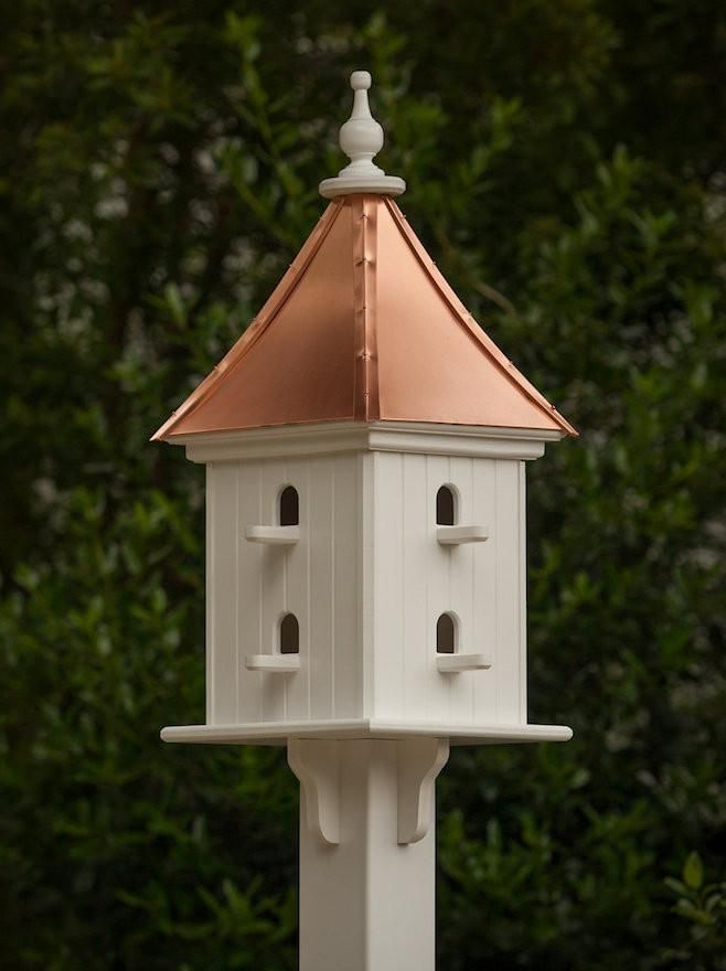 Copper Roof Birdhouse 28x12 8 Perches Copper Roof Bird Houses Bird House Kits