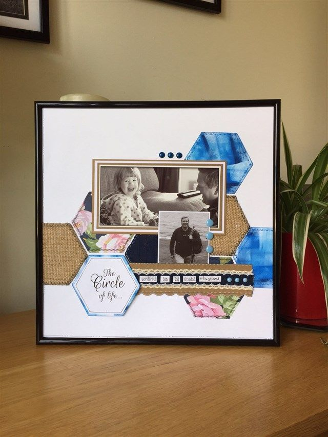 Framed family scrapbook layout | Docraft Creations JW | Pinterest ...