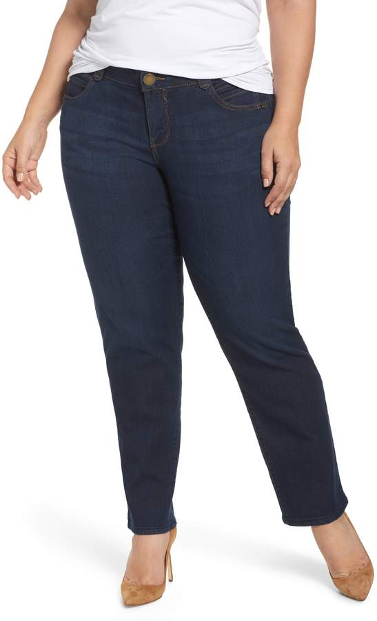 Democracy Womens Plus Size Ab Solution High Rise Color Ankle Jean