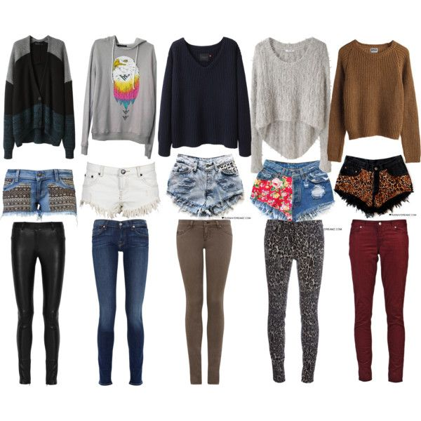 sweaters shorts and skinny pants