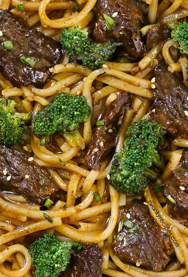 Instant Pot Beef and Broccoli Noodles
