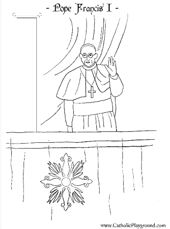 the holy father pope francis i catholic coloring page for kids to colour - Father Coloring Page Catholic