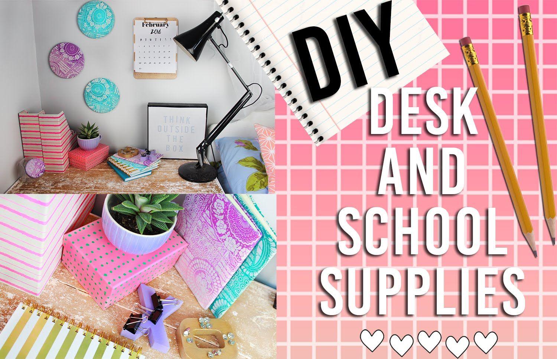 DIY School Supplies and Organizational Desk Decor ...