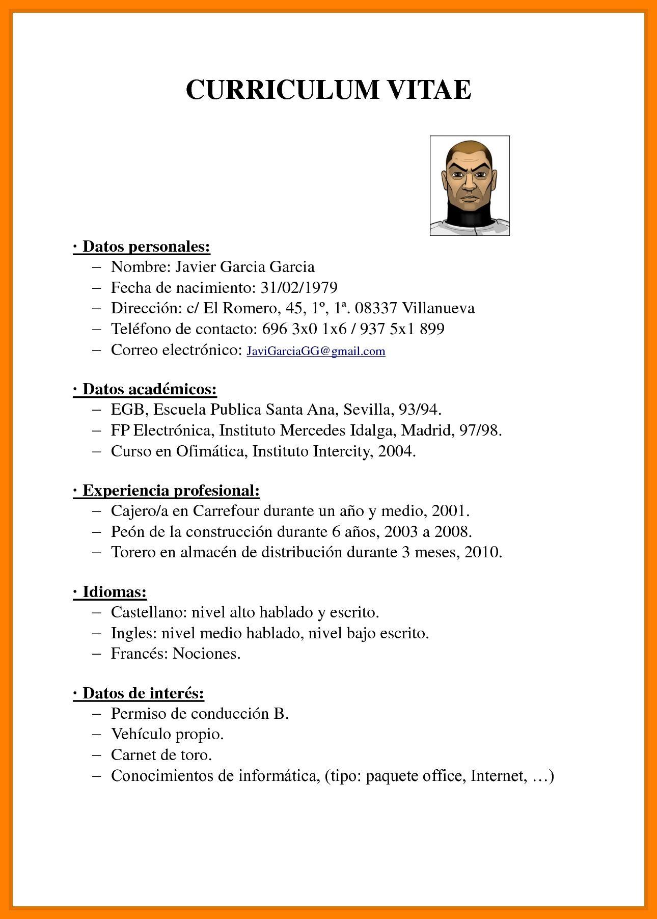 Curriculum Vitae Profesional 2018