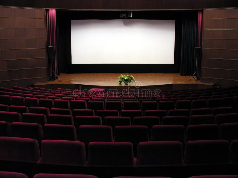 Movie Theater With Screen Sponsored Movie Theater Screen Ad Movie Theater Image Stock Photos