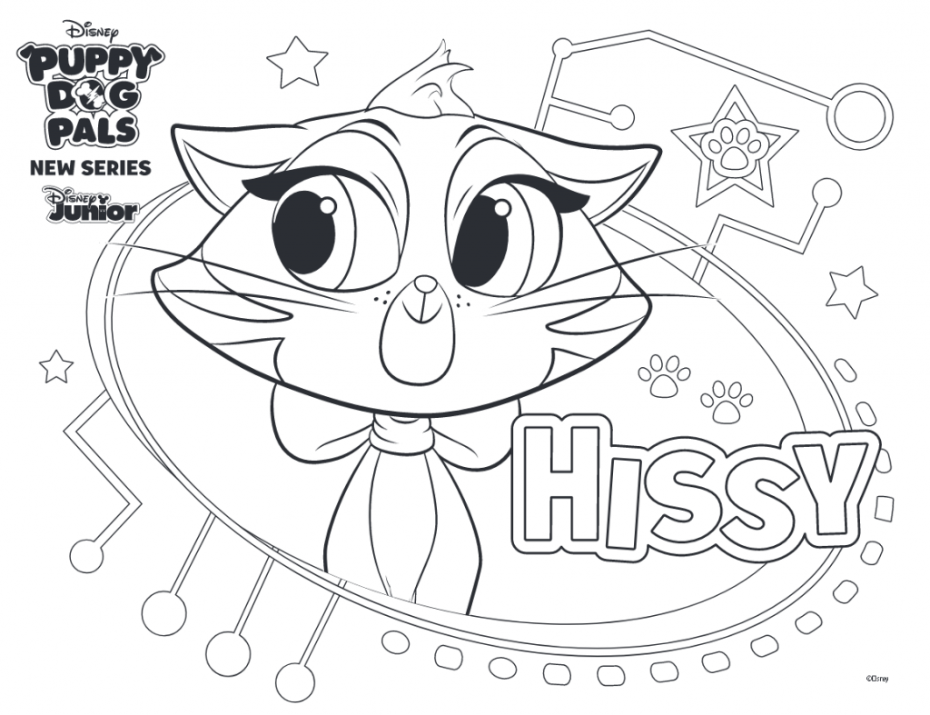 Free Printable Puppy Dog Pals Coloring Pages Hissy