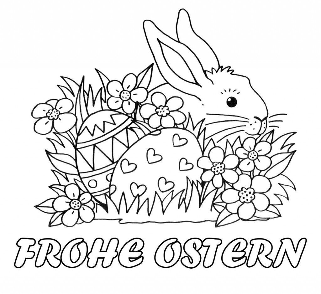 Frohe Ostern 9 ausmalen Bilder zum ausdrucken  Osterbilder