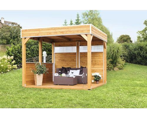 Pavillon Skan Holz Toulouse 302 X 302 Cm Natur Bei Hornbach Kaufen Pavillon Selber Bauen Holz Pavillon Garten Pavillon