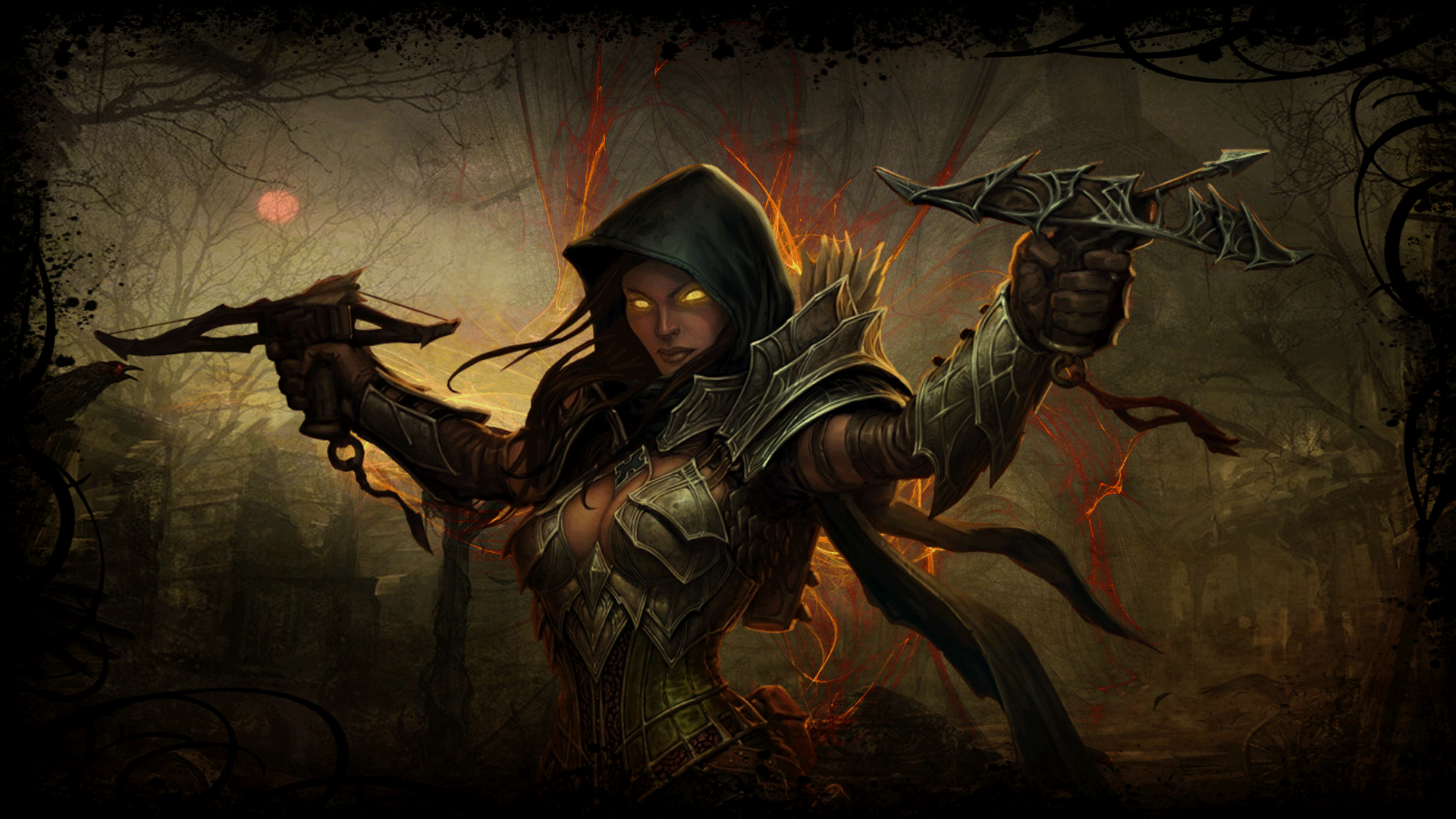 Diablo 3 Demon Hunter Background By Cursedblade1337 Deviantart