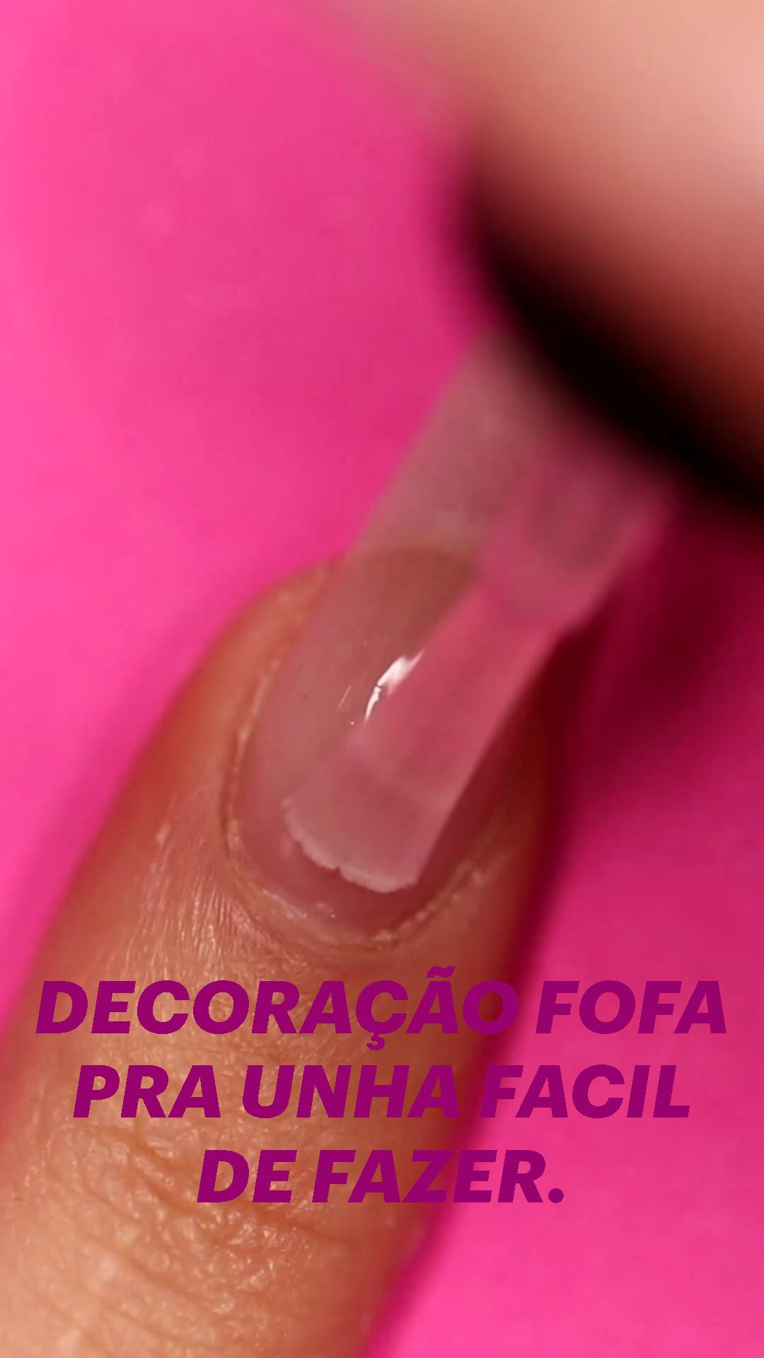 DECORAÇÃO FOFA PRA UNHA FACIL DE FAZER.