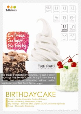 Tutti Frutti Frozen Yogurt Birthday Cake
