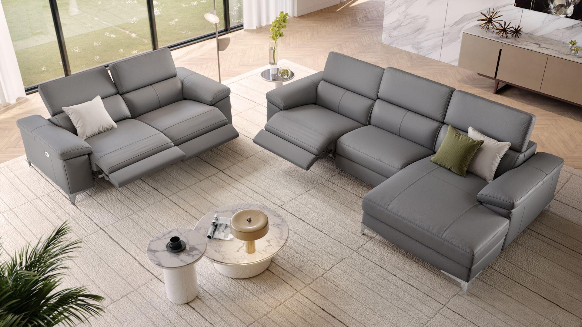 Leder Wohnlandschaft Ecksofa Venosa Sofanella Gartenmobel Sets Couch Sofa