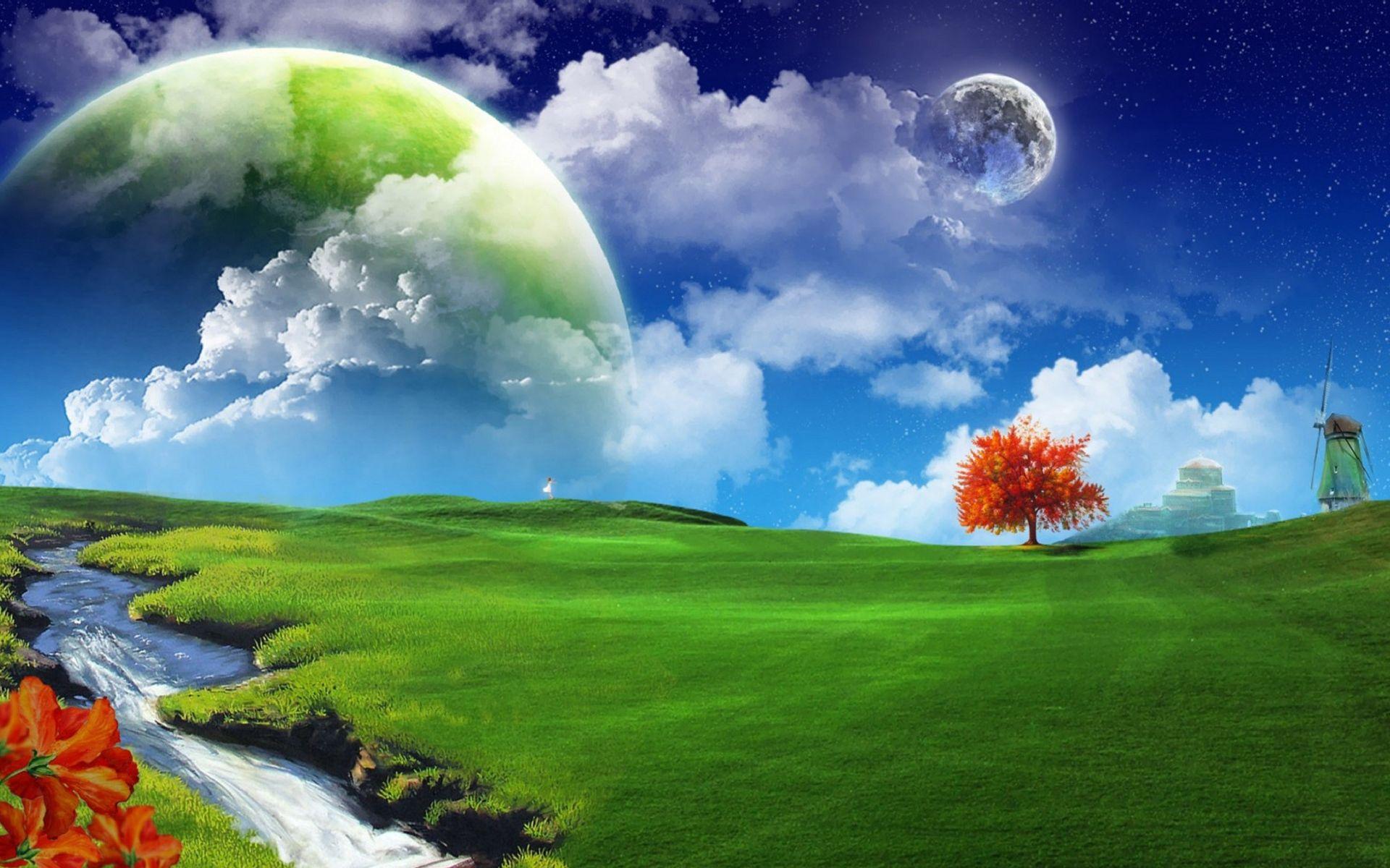 Landschaft Full HD Wallpaper and Hintergrund x ID