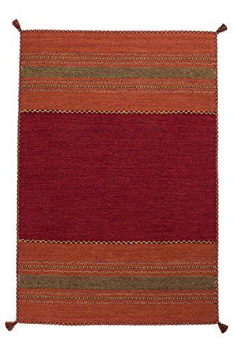Teppich Wohnzimmer Orient Carpet Klassisches Design RUG Alhambra 335 Rot 100 Baumwolle 200x290cm