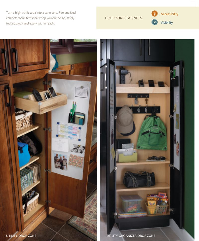 Kitchen Storage Zones: Diamond Kitchen Cabinets Drop Zone
