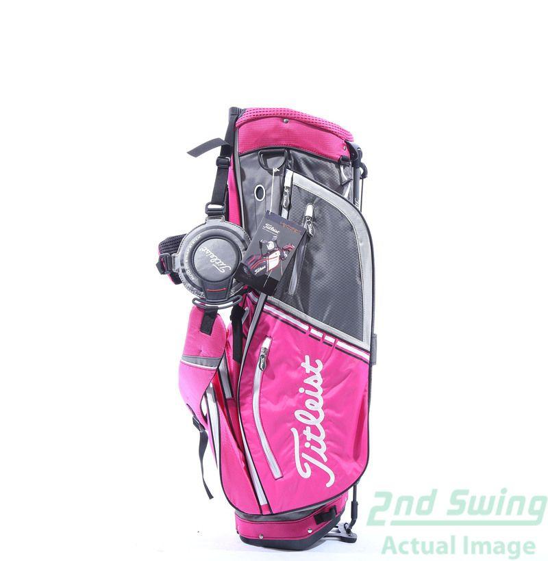 eb27b49c12b Used New Titleist Custom Lightweight Golf Stand Bag Charcoal Pink Silver - 2nd  Swing Golf  2ndSwing  Golf  Pink  Titleist