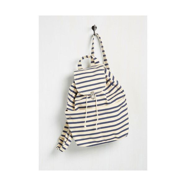 Baggu Nautical, Travel, Scholastic Inches, Fleet, Miles Backpack (€34) ❤ liked on Polyvore featuring bags, backpacks, accessories, backpack, varies, striped canvas backpack, travel bag, white backpack, canvas travel backpack and baggu knapsack