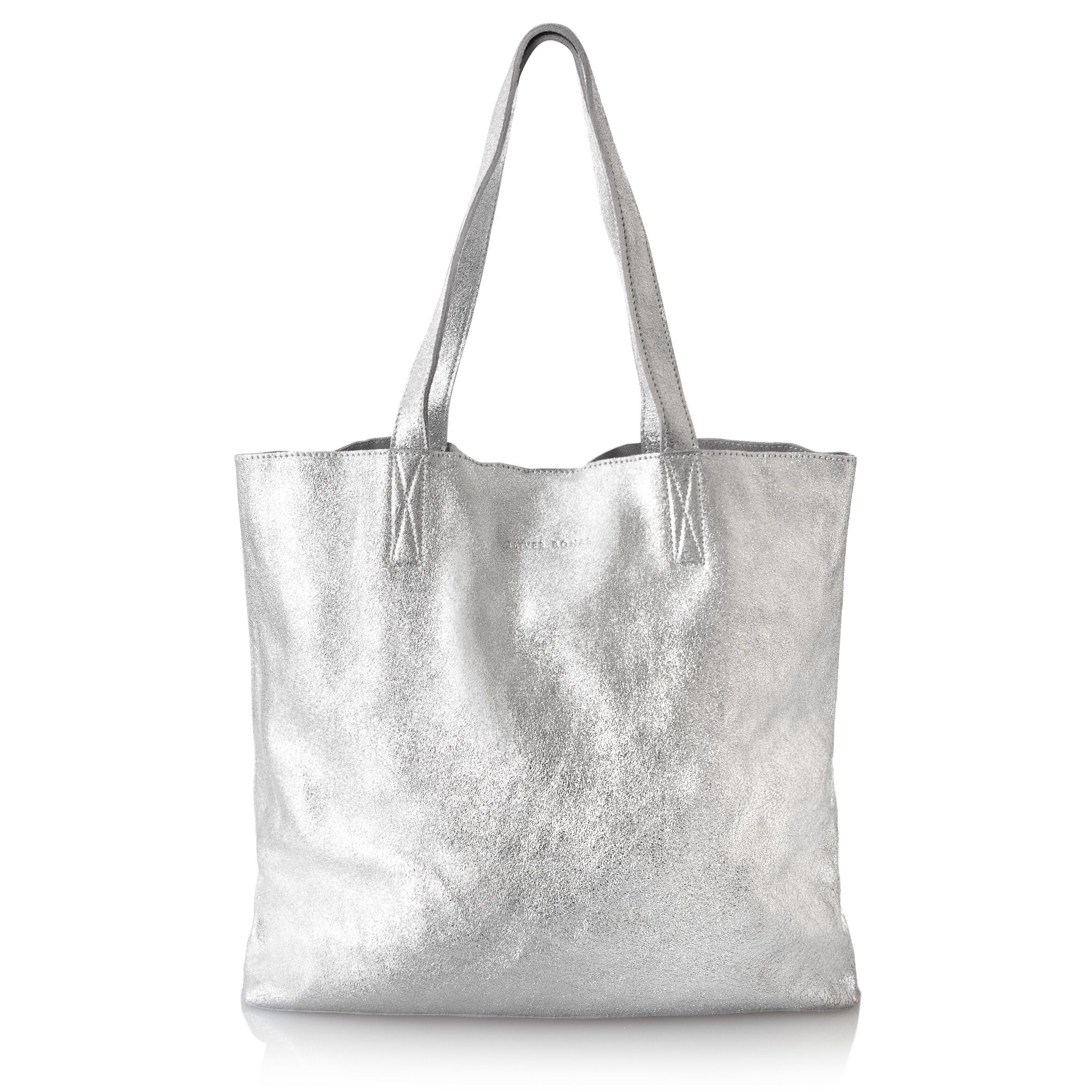 2798562038f964 The Silver Crackle Metallic Leather Handbag has fashion magpies on high  alert