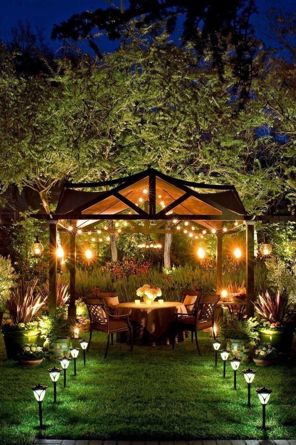 30 Simple Gazebo Design Ideas That So Inspire In 2020 Gazebo Lighting Backyard Pergola Backyard Lighting