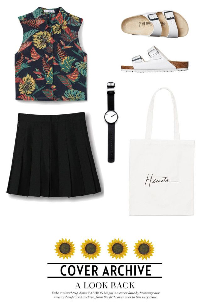 """Untitled #664"" by vero199638 on Polyvore featuring MANGO, Birkenstock, WithChic and Rosendahl"