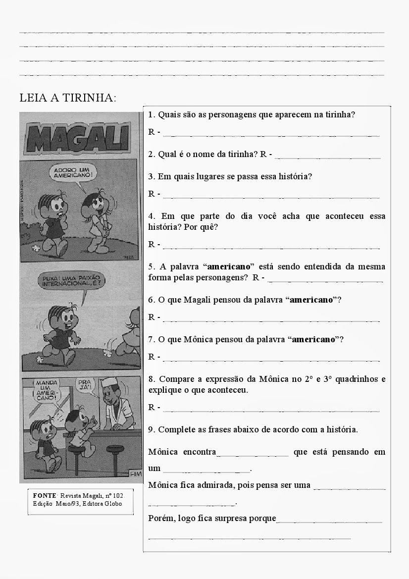 Monica E Magali Tinhas Interpretacao De Texto Jpg 826 1169 Com