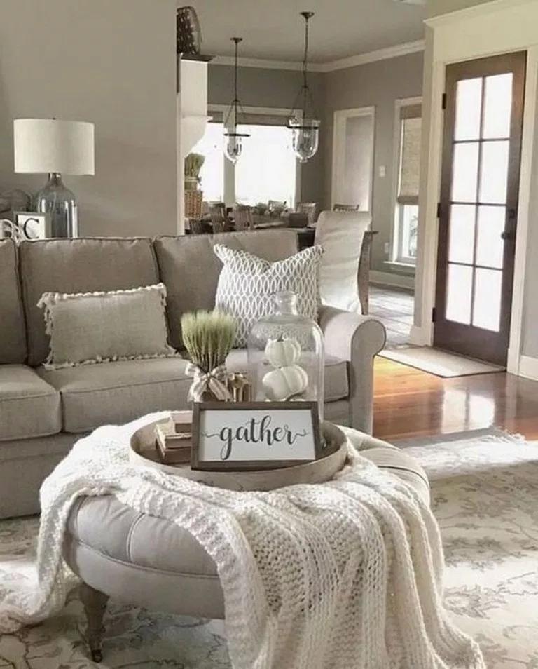 44 Best Farmhouse Living Room With Rug Decor Ideas