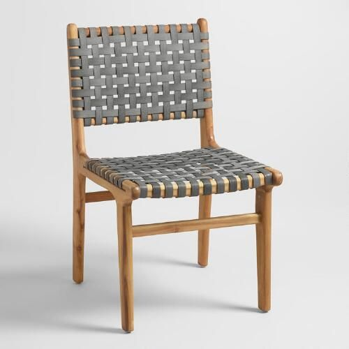 Gray Strap Girona Dining Chairs Set Of 2 Woven Dining Chairs World Market Dining Chairs Rustic Dining Chairs