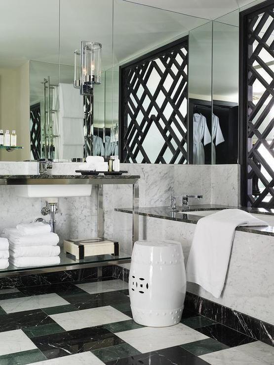 Black And White Bathroom Designs Glamorous Design Inspiration