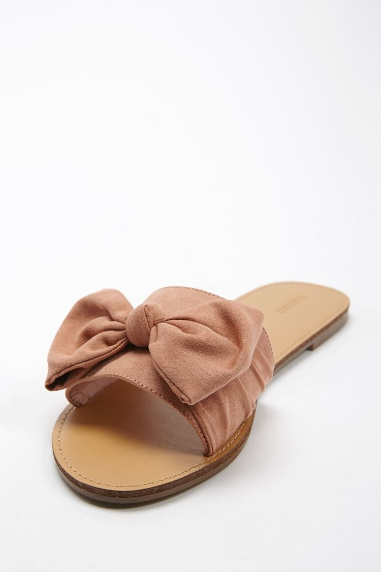 974b122d391426 Product Name Faux Suede Bow Slides