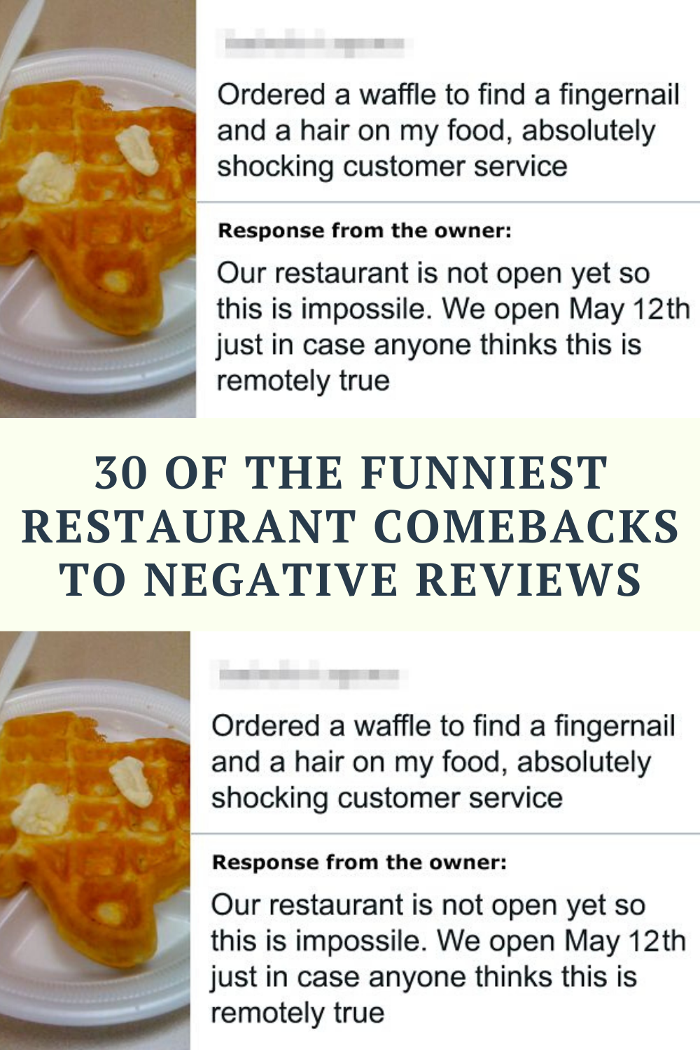 30 Of The Funniest Restaurant Comebacks To Negative Reviews