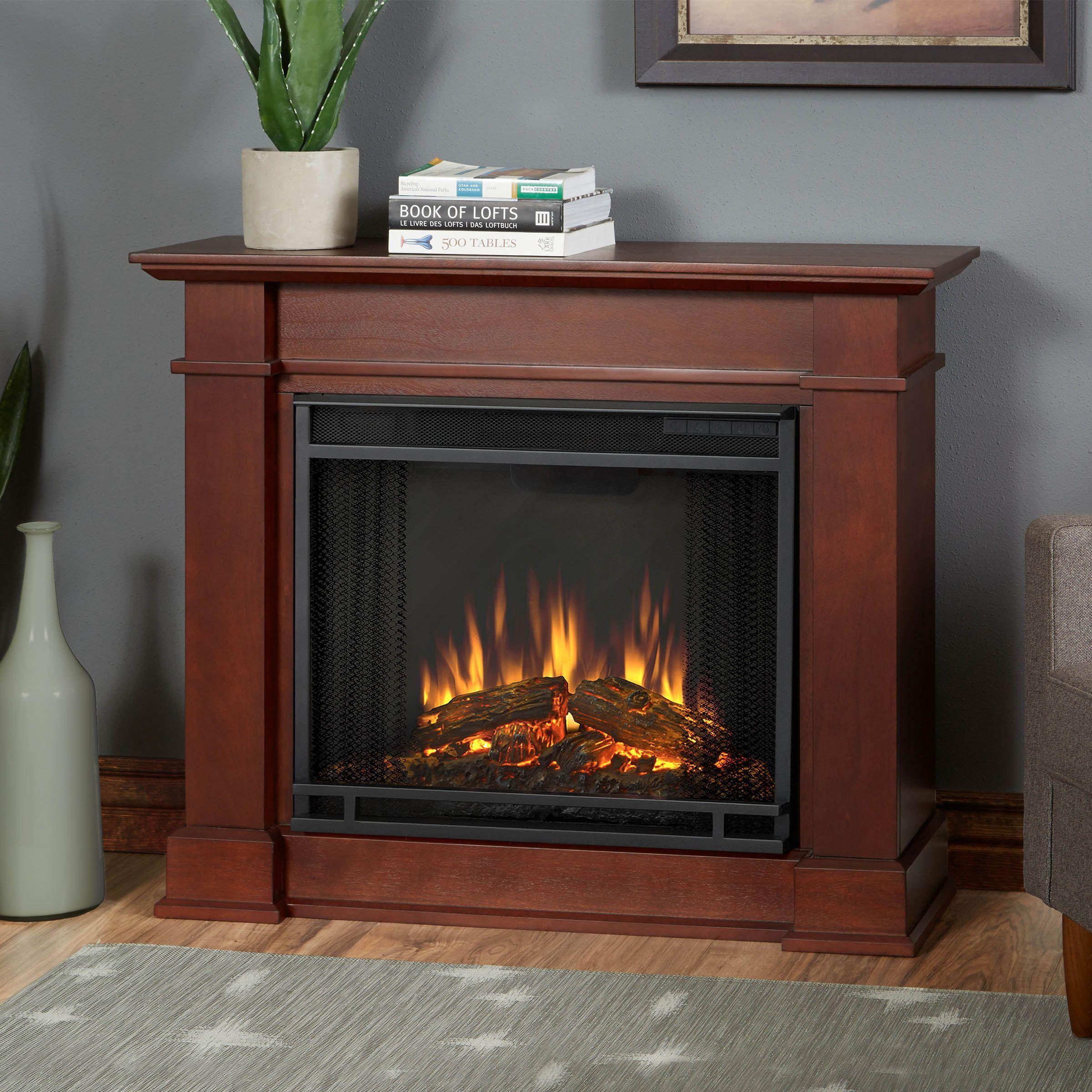 Real Flame Devin Dark Espresso 36.3 in. W x 11 in. D x 30.4 in. H Electric Fireplace (Real Flame Devin Electric Fireplace Dk. Espresso), Brown (MDF)