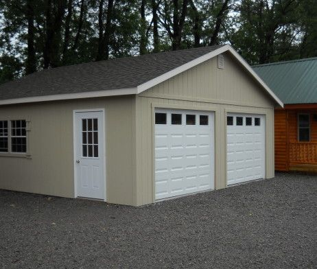 24 X24 Two Car Garage Custom Built Garages Overstock Items Peak Style Garages Sales Prices Garage Sale Pricing Garage Door Types Garage Building Plans