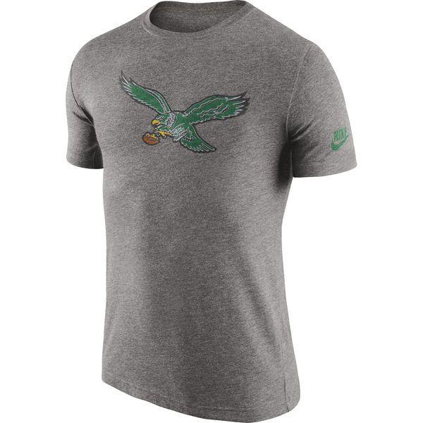 Philadelphia Eagles Nike Historic Logo Tri-Blend T-Shirt - Heathered Gray.  Nfl PackersPhiladelphia EaglesNike MenLogosGrayT ... 03cb50bc3