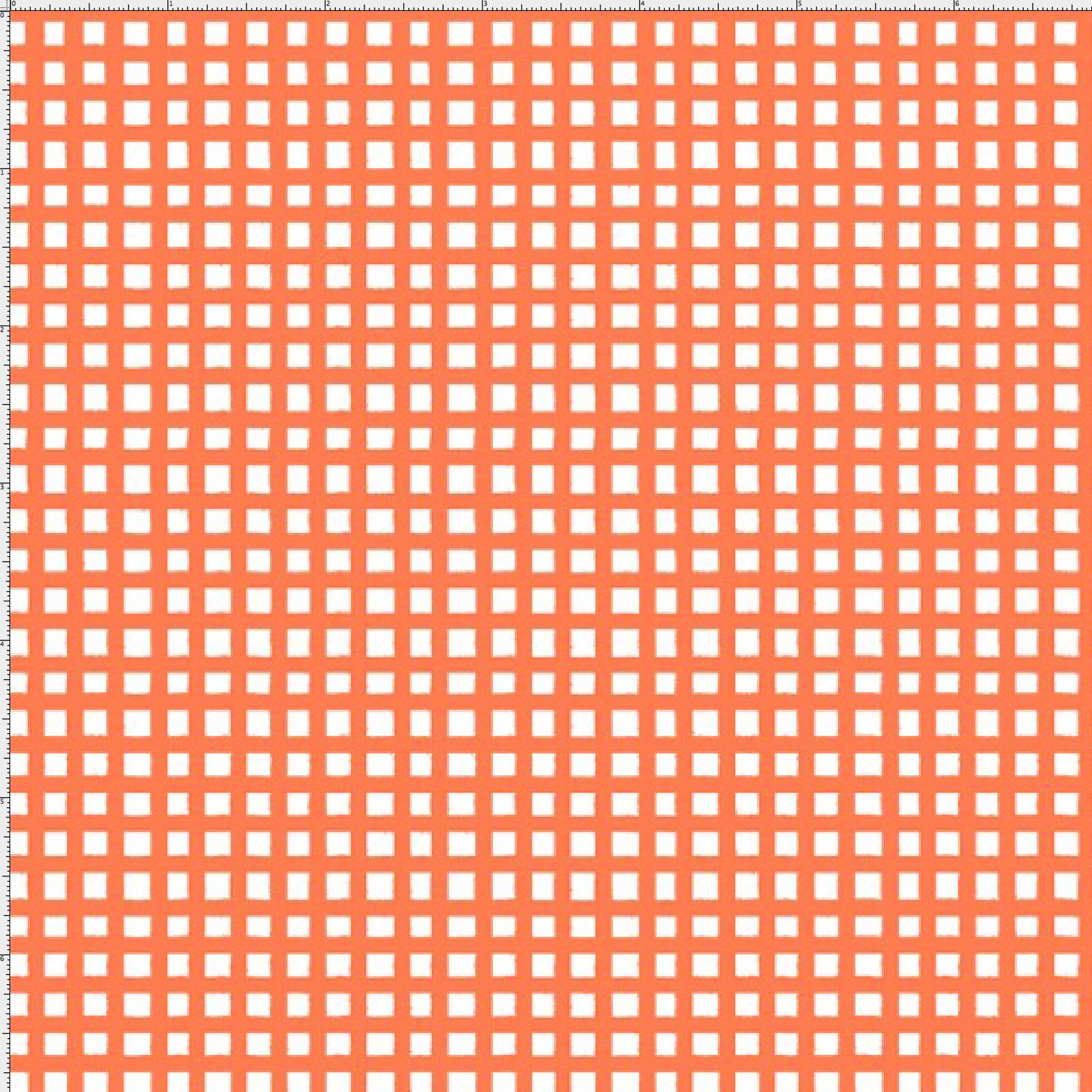 Chipper Check Orange Fabric Yard