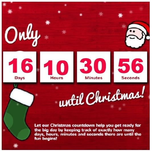 Christmas DEAL OF THE DAY!!!! | Christmas countdown, How long until christmas, Countdown