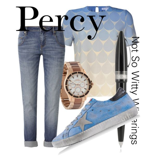 Fictional Fashion: Percy Jackson - Percy Jackson series hahaha wonder if the pen really works as riptide