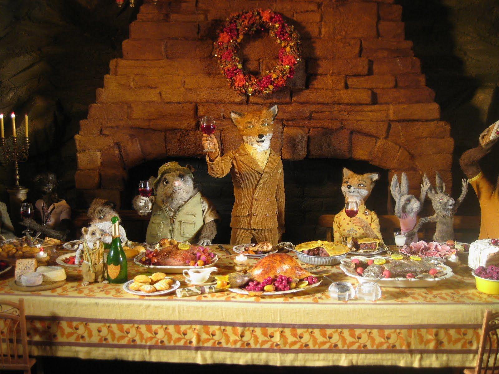 Fantastic Mr Fox Fantastic Mr Fox Fox Food Thanksgiving Family