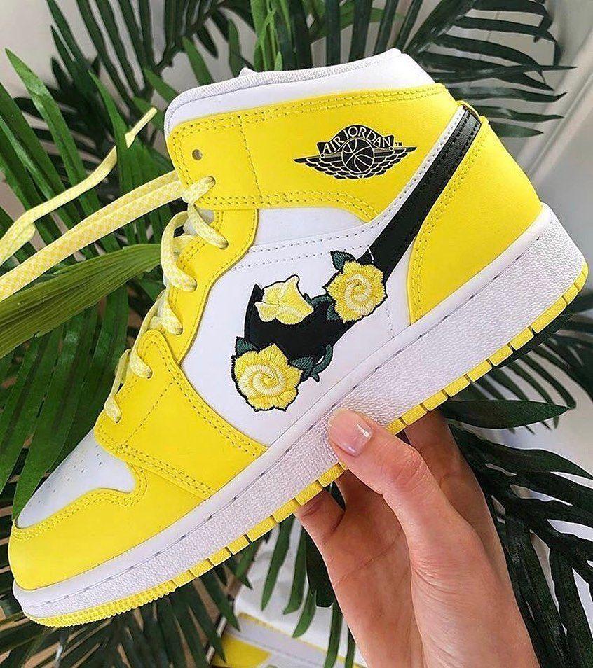 air jordan 1 jaune florale