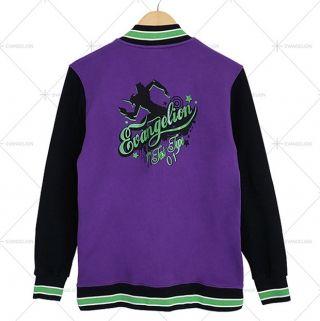 Neon Genesis Evangelion baseball jacket for teens purple ...