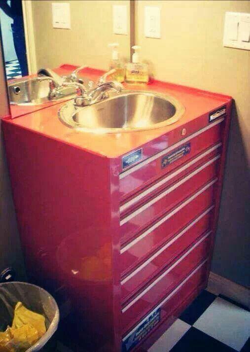 Pin By Amanda B On Craft Ideas Man Cave Bathroom Garage Bathroom Garage To Living Space